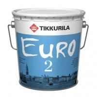 Интерьерная краска Tikkurila Euro 2 (Тиккурила Евро 2) белая