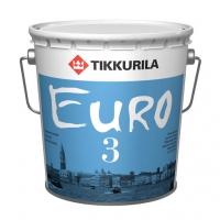 Интерьерная краска Tikkurila Euro 3 (Тиккурила Евро 3) колеровка