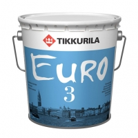 Интерьерная краска Tikkurila Euro 3 (Тиккурила Евро 3) белая