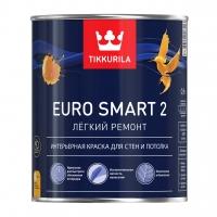 Интерьерная краска Tikkurila Euro Smart 2 (Тиккурила Евро Смарт 2) белая