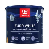 Краска для потолка Tikkurila Euro White (Тиккурила Евро Уайт) белая