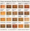 Pinotex Tinova Professional (Пинотекс Тинова Профессионал) колеровка