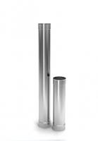 Труба дымохода одностенная 0,5мм L=1м