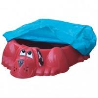 """Детская пластиковая песочница мини-бассейн """"Собачка с тентом"""" Marian Plast 431"""