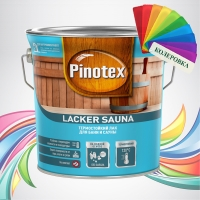 Pinotex Lacker Sauna (Пинотекс Лакер Сауна) колеровка