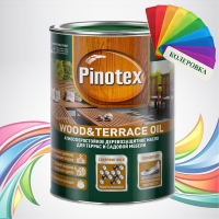 Pinotex Wood & Terrace Oil (Пинотекс Вуд & Террас Ойл) колеровка