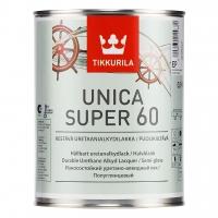 Лак паркетный Unica Super 60 (Уника Супер) полуглянцевый